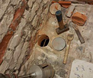de toilet renoveren afvoer
